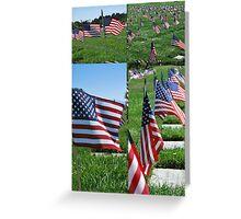 Memorial Flags Greeting Card