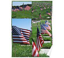 Memorial Flags Poster