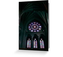 National Cathedral Rose Window Greeting Card