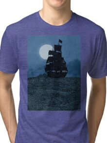 Sailing Under The Moon Tri-blend T-Shirt