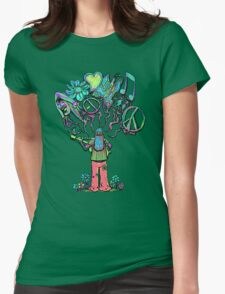 Psychedelic Soul Songs  Womens Fitted T-Shirt