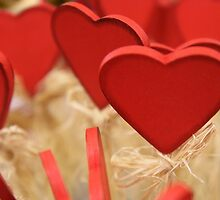 Love, Romance, Hearts, Hay - Red by sitnica