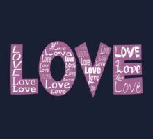 Love and Hearts - Pink White  Kids Clothes