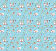 Party Pig Pattern by rachellemeyer