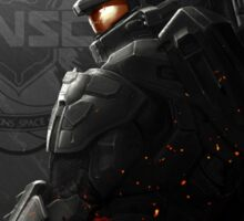 Halo 4 Master Chief - United He Stands Sticker