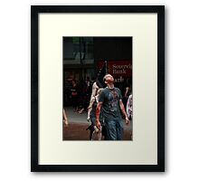 Blood in The Air Framed Print