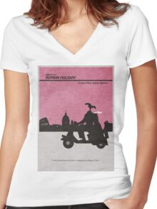 Roman Holiday Women's Fitted V-Neck T-Shirt