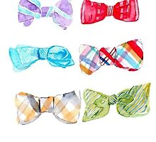 Preppy Bow Ties by Emily Grimaldi