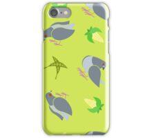 Pigeon Pattern - Green iPhone Case/Skin