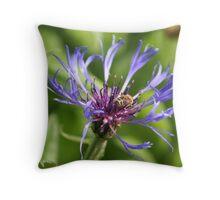 blue crown Throw Pillow