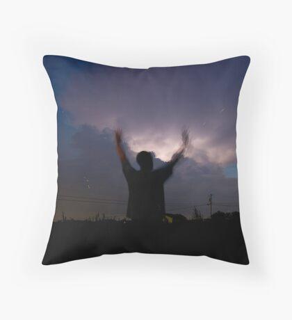 Lightning Bugs Throw Pillow