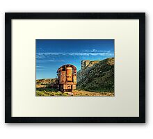 The Crane and the Odeon - Alderney Framed Print