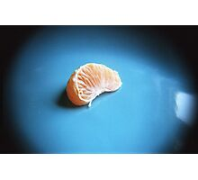 Orange On Blue Photographic Print