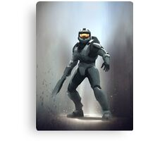 Halo 3 - Master Chief Dropping In Canvas Print
