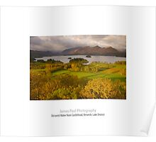 Derwent Water from Castlehead, Keswick, Lake District, Poster