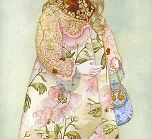 "Watercolour from a series ""Doll"" by Masha Kurbatova"