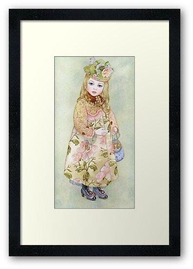 "Watercolour from a series ""Doll"" by Masha Kurbatova"