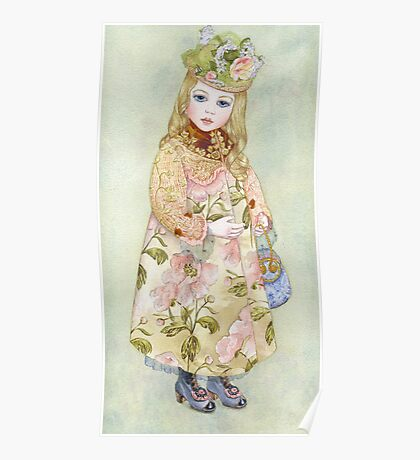 "Watercolour from a series ""Doll"" Poster"