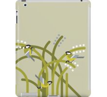 Three Great Tits vector illustration iPad Case/Skin