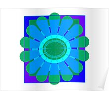 Luminous Flower Poster
