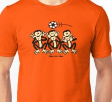 Three Wise Soccer Monkeys Unisex T-Shirt