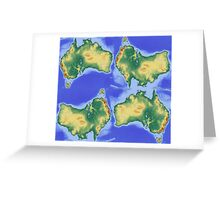 Map of Oz Greeting Card