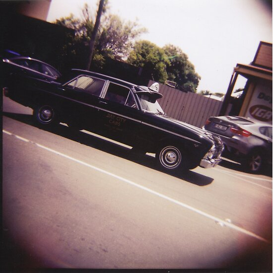 Medium Format Photography: Ford taxi by Greg Carrick