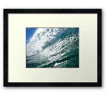 Backlit Wave Sunshine Coast Framed Print
