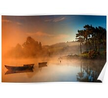 Misty sunrise, Knapps Loch Poster