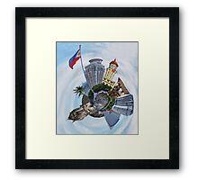 Little Planet: Manila Framed Print