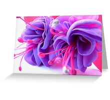 Fuschia Fantasy Greeting Card