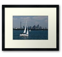 Summer Sailing Postcard from Toronto Framed Print