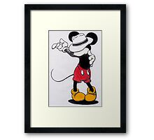 Michael Jackson Mickey Mouse Framed Print