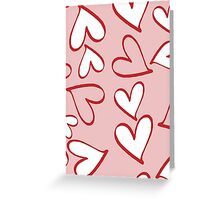 Love, Romance, Hearts - Red Pink White  Greeting Card