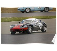 1965 Marcos 1800 GT (Black & Red) Poster