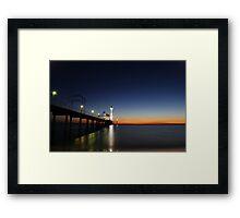 Brighton Beach At Sunset - Adelaide - South Australia Framed Print
