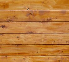 Barn Wall Made of Old Wooden Planks - Brown by sitnica