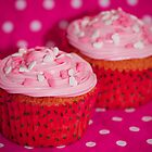 Pink heart cupcakes by Framed-Photos