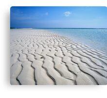 Endless Maldivian Beach Canvas Print