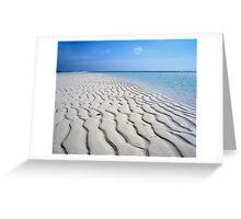 Endless Maldivian Beach Greeting Card