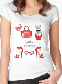 I just love accessorizing Women's Fitted Scoop T-Shirt