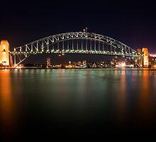 Sydney Harbour Bridge - Night by Dale Allman
