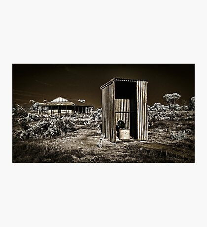 The Outback Dunny Photographic Print