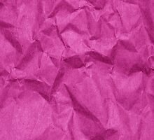 Wrinkled Paper, Crumpled Paper Texture - Pink  by sitnica