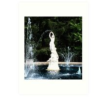 Dancing With the Statuary Art Print