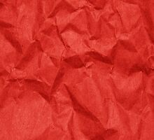 Wrinkled Paper, Crumpled Paper Texture - Red by sitnica