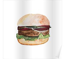 Tasty and fresh burger Poster