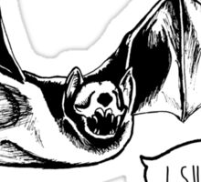 """I Suck"" Vampire Bat Skull Sticker"
