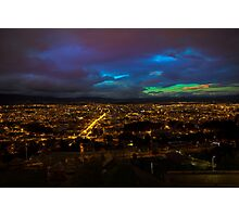 Late Dusk View Of Cuenca From Turi Photographic Print