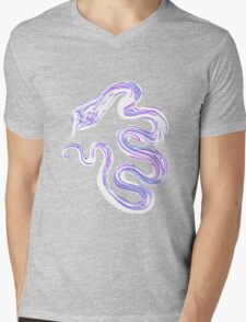 White Snake Mens V-Neck T-Shirt